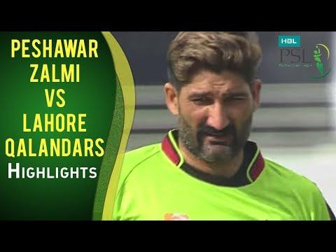 PSL 2017 Match 16: Peshawar Zalmi vs Lahore Qalandars Mini Highlights