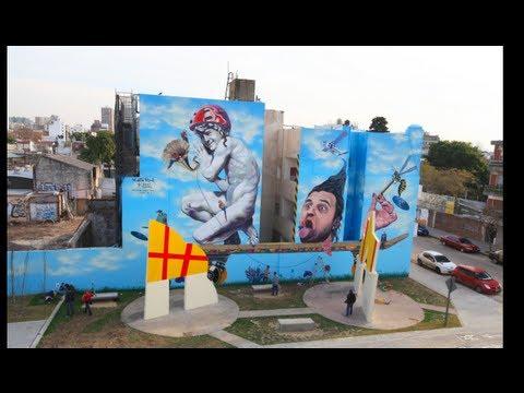 Buenos Aires Street Art: Martin Ron y Blu
