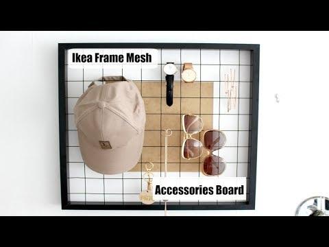 DIY| Ikea Frame Mesh Accessories Board