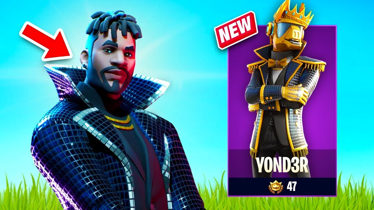 New Yond3r Skin Gameplay Twin Turntables Set Fortnite Battle Royale
