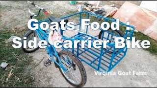 Goat Food Carrier - Bike with Sidecar in the Philippines