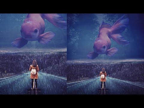 Rain And Water Effect Photoshop Manipulation Tutorial thumbnail