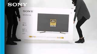 Unboxing and Setup Guide | Sony XBR X900F TV series