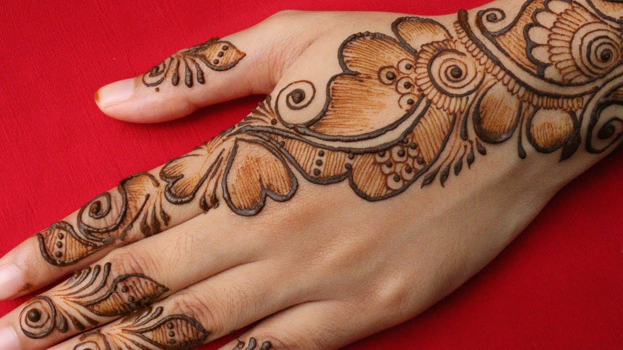mehndi designs for back hand easy    new simple back side mehndi designs    arabic mehndi designs