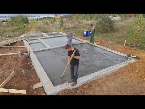 ⚡️Фундамент под баню ⚡️как построить свайно ленточный фундамент своими руками⚡️