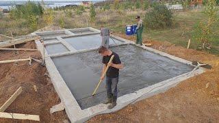 видео Баня на столбчатом фундаменте, ленточном, винтовом и плавающем.