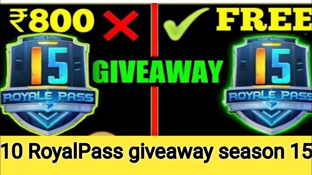 pubg mobile season 15 Royal pass giveaway | 10 Royal pass giveaway | Dark king gaming