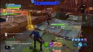 Fake scam and made kids day *ALMOST CRIED* Fortnite Save The World