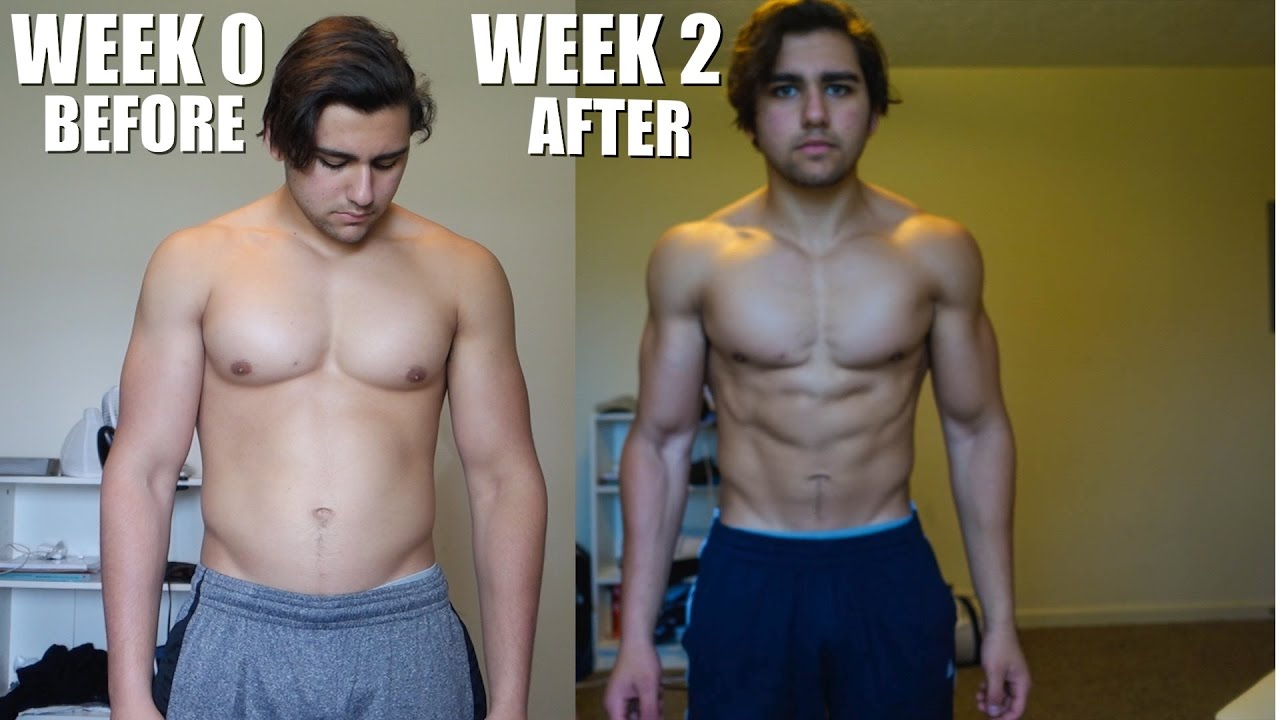 REALISTIC Body Transformation | 2 Week Bulk To Cut Natural