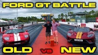 SHMEE150 VS DRAGTIMES  Old vs New Ford GT Sound 14 Mile and Roll Racing