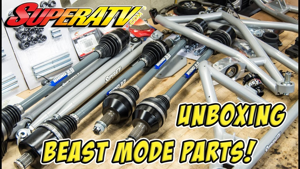 Unboxing the new HD SuperATV parts for the RZR Turbo Build! Check these  out! #TeamAJP