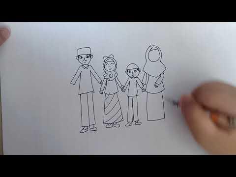 Belajar Menggambar Ayah Ibu Adik Dan Kakak Youtube