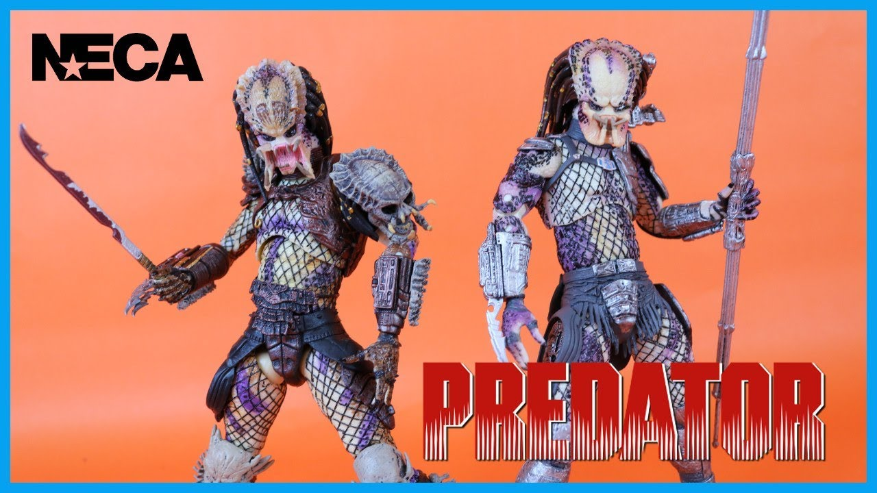 NECA Toys Ultimate 2 Pack BAD BLOOD PREDATOR VS  ENFORCER PREDATOR Action  Figure Toy Review