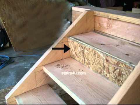 Closing Treads With O.S.B. Stair Riser - Staircase ...
