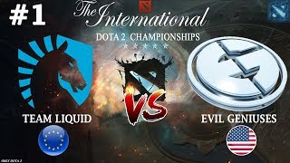 МИРАКЛ против СУМАИЛА! | Liquid vs EG #1 (BO3) | The International 2018