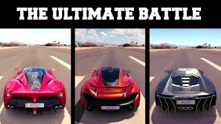 Forza Horizon 3 l LaFerrari vs Mclaren P1 vs Lamborghini Centenario