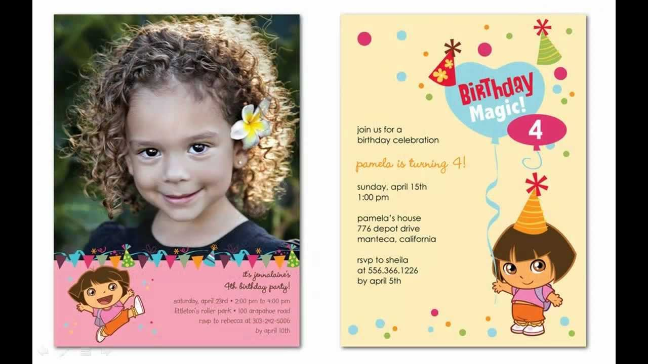 Adorable Dora Birthday Party Invitations That You Can Personalize At ...