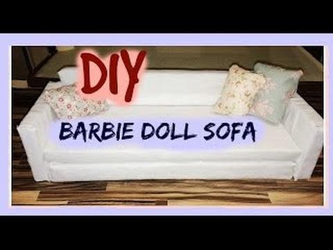 diy barbie doll sofa dollhouse furniture diy91 diy