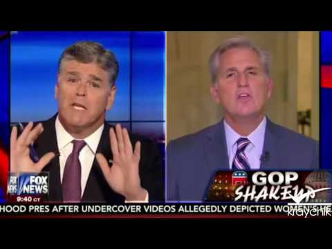 Kevin McCarthy; New House Majority Leader; w/Hannity; 9 29 2015