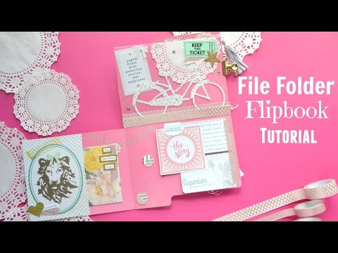 Snail Mail File Folder Flipbook Tutorial OR File Folder Mini Album Tutorial