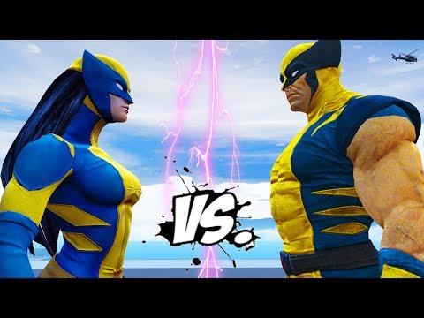 Wolverine vs X-23 - Epic Superheroes Battle