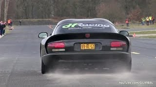 Dodge Viper GTS Heffner Performance vs Aventador vs R35 GT-R!