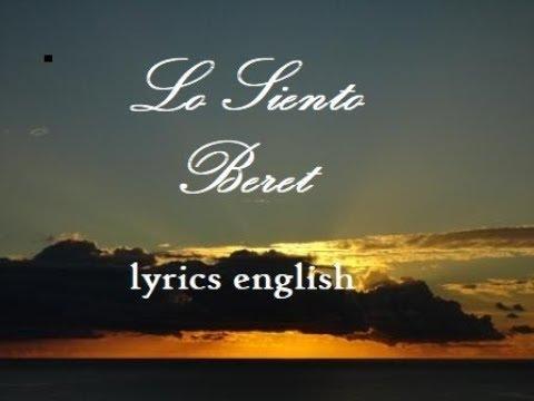 BERET - lo siento - letra - lyrics( English subtitle )