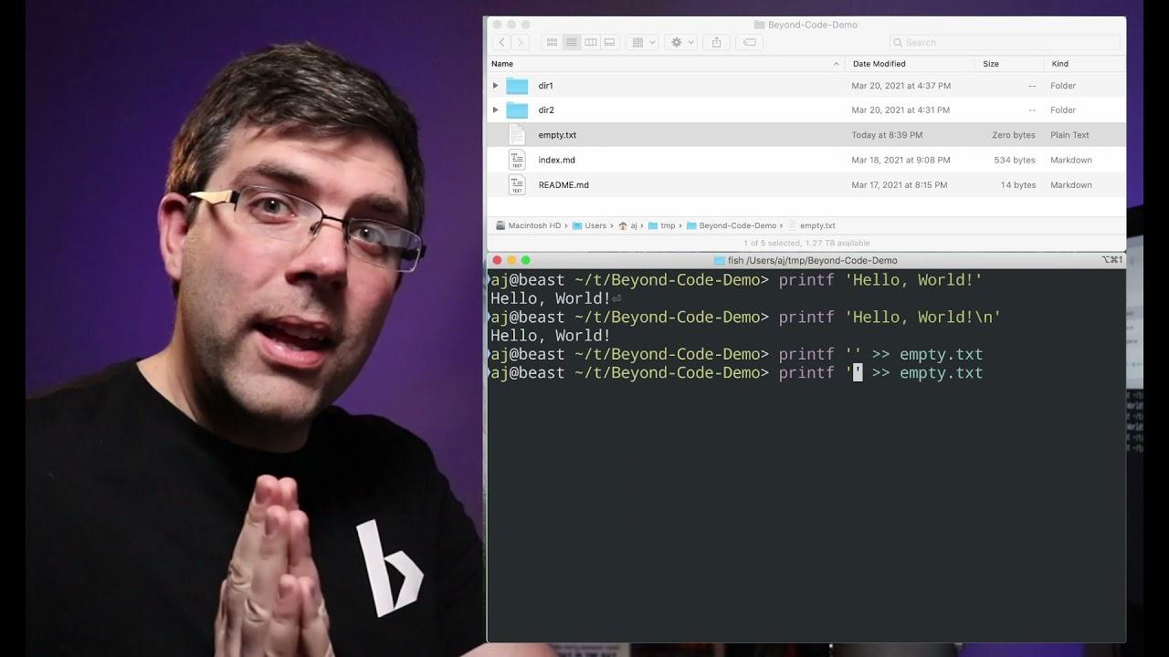 Bash printf: don't use echo! Beyond Code Live 006.c