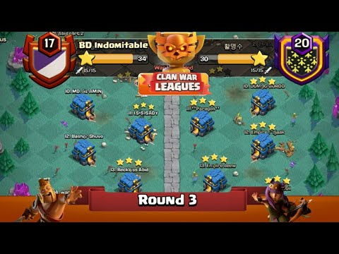 Clan War Leagues - TH12 Attacks - Clash Of Clans - Round 3 (Season 2)