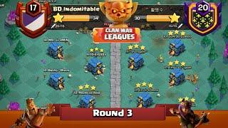 Clan War Leagues - TH12 Attacks - Clash Of Clans - Round 3 (Season 2)
