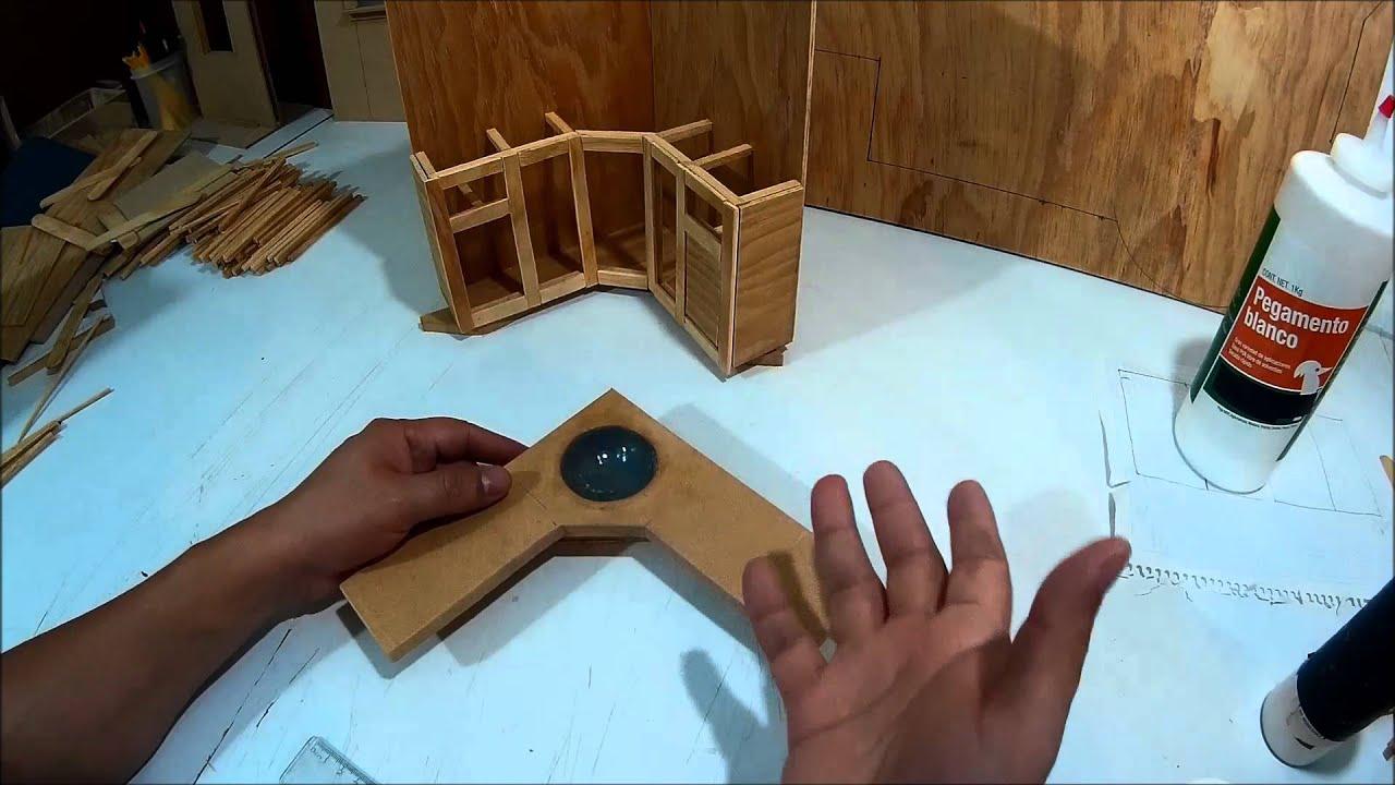 Como hacer un mueble tocador de ba o para mu ecas parte 2 for Como hacer gradas