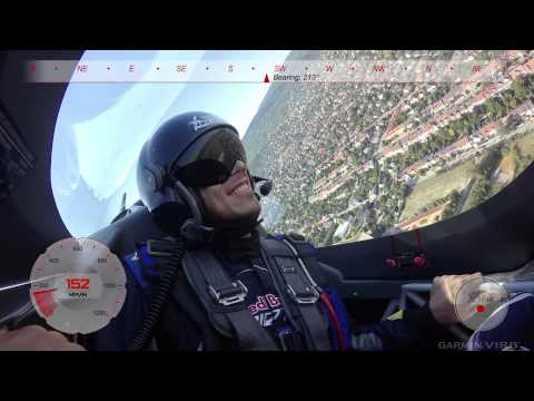 Awesome aerobatics G-flight with Peter Podlunsek @ Red bull Air Race Budapest 2015