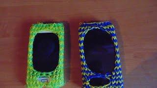 Плетение из резинок Чехол для телефона часть 3.