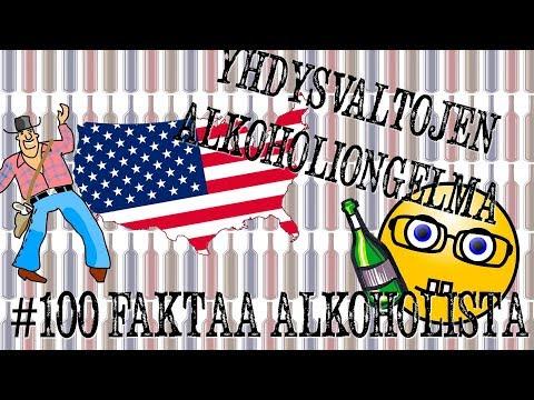 Yhdysvallat ja alkoholiongelmat | #100faktaaalkoholista - 76