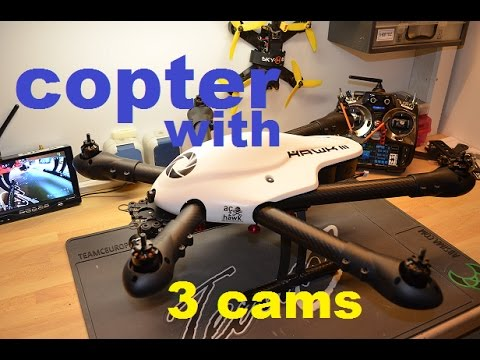 FPV copter with 3 Cams (Sky-Hero little spyder 6) + Armattan chameleon Racer preview ( deutsch)
