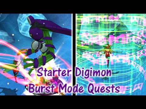 starter digimon burst mode quests digimon masters online youtube
