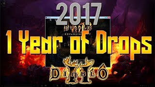 1 year of Diablo 2 drops - 2017