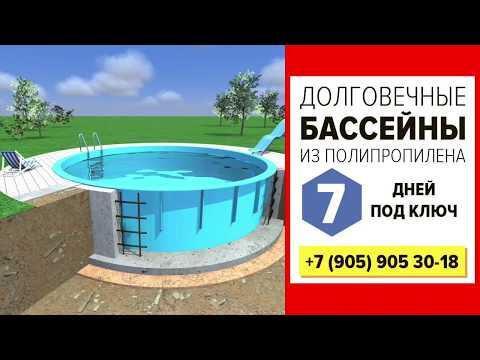 Бассейны полипропиленовые КузбассАкваДом | 8 905 905 30 18