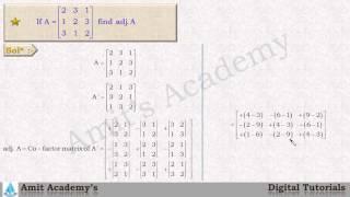 Adjoint of a matrix   Diploma first year - Basic mathematics