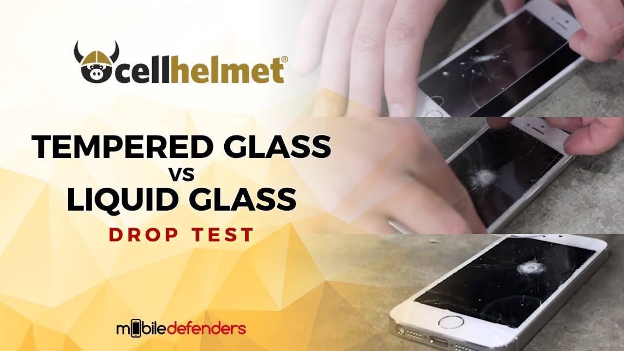 Drop Test! cellhelmet Liquid Glass vs Tempered Glass
