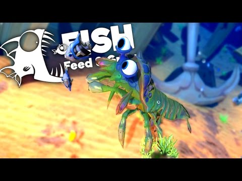 Huge Mantis Shrimp Kills Great White Sharks! - Feed and Grow Fish Gameplay