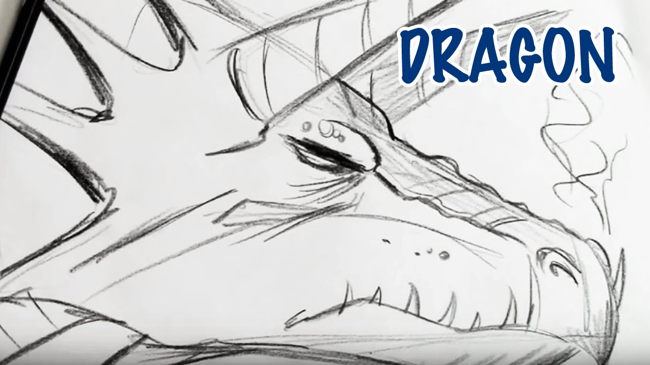 How to draw a dragon step by step youtube