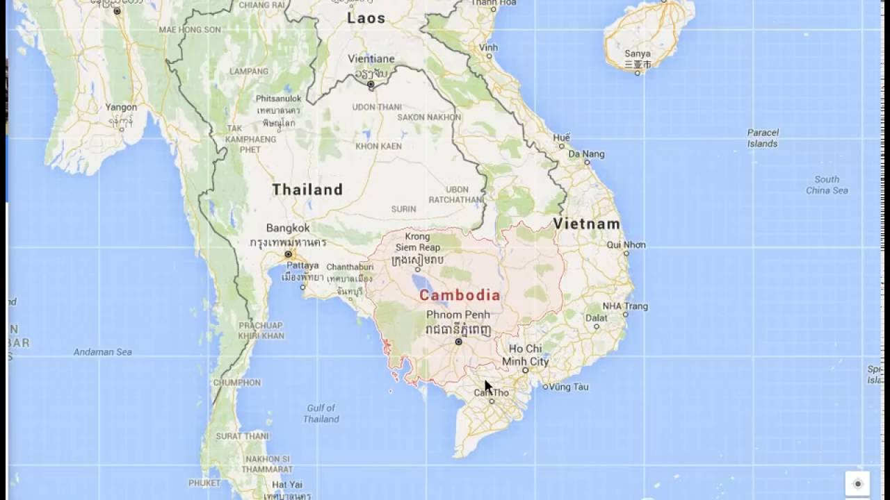South East Asia Countries Google Maps YouTube - Asia maps