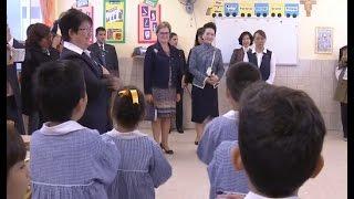 Peng Liyuan, Wife of Chinese President, Visits Peruvian Chinese School