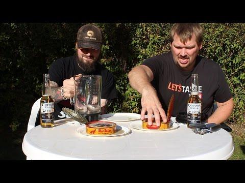 Drinking surströmming * Warning - Vomit alert *
