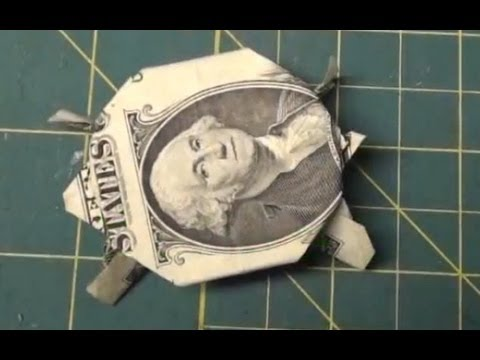 Dollar Origami How To Make An Origami Turtle From A Dollar Bill
