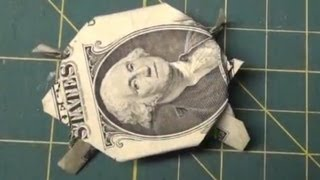 Dollar Origami - How To Make an Origami Turtle from a Dollar Bill Tutorial Money