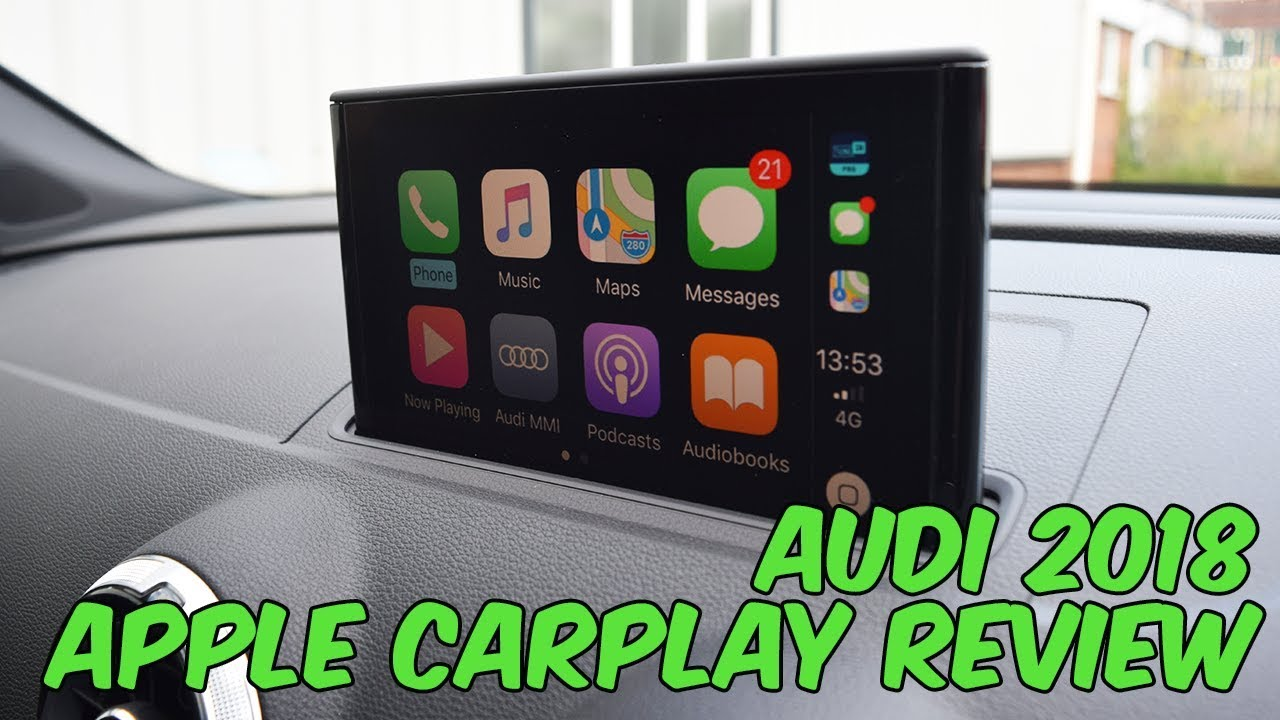 Audi 2018 Apple CarPlay FULL Review - MMI Navigation Plus