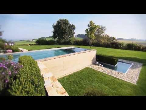 schwimmbadbau dokumentation eines pool im garten im doovi. Black Bedroom Furniture Sets. Home Design Ideas