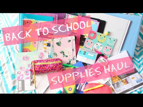 Back To School Supplies Haul/What's in My Backpack + School Tips